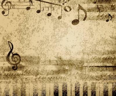 Noten um Klavier zu spielen